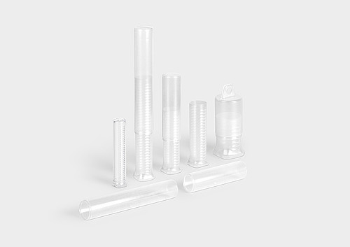 TelePack: a round telescopic packaging tube with ratchet mechanism.