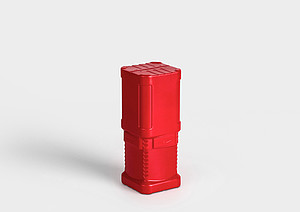 Tube d'emballage en plastique BlockPack