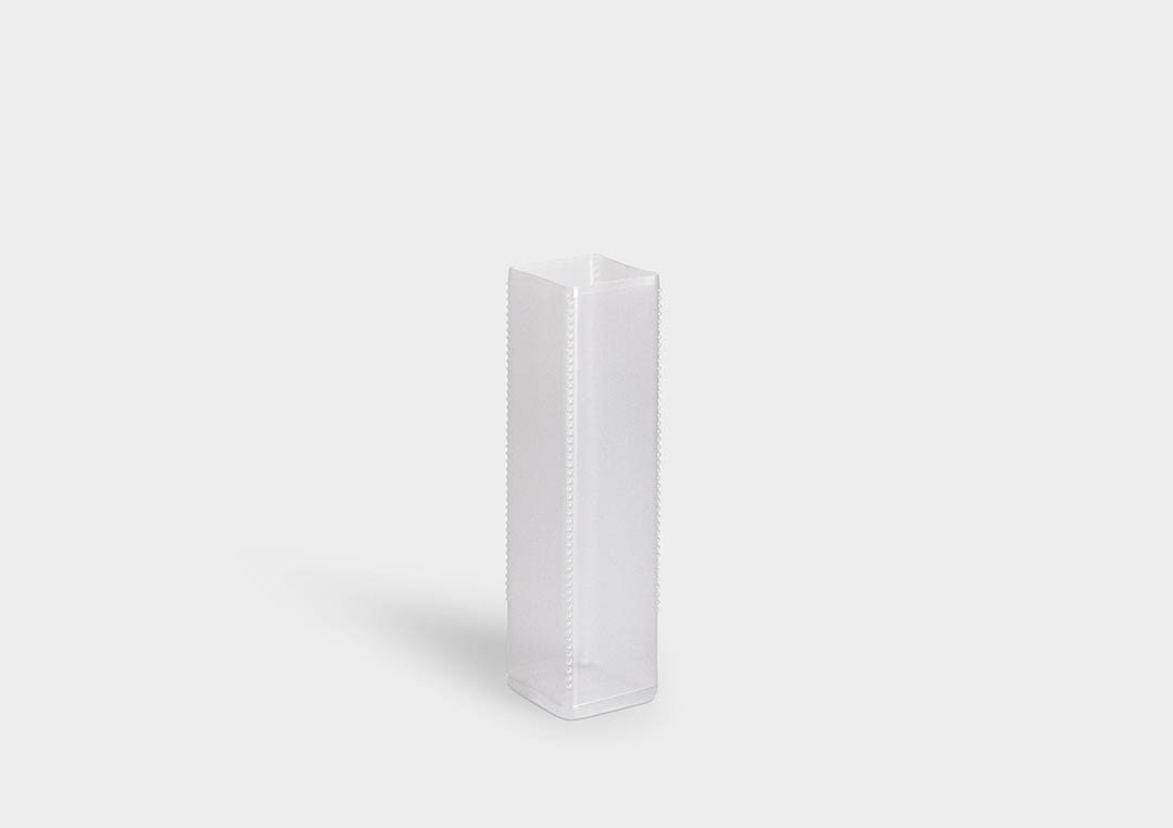 QuadroPack: a square telescopic protective packaging tube with ratchet length adjustment.